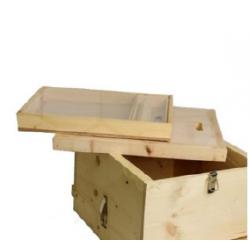 خلية 10 براويز سويدي مع مصيدة لقاح وغطاء داخلي عازل وغذاية علوية